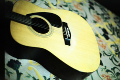 She's Sang To Me (:: H u z a i r ::) Tags: film 35mm fuji minolta guitar superia yamaha acoustic 50mmf14 rm wideopen x700 mcrokkor huzairrahman