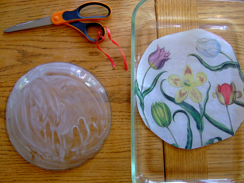 Tutorial: Decoupage Under Glass (4)