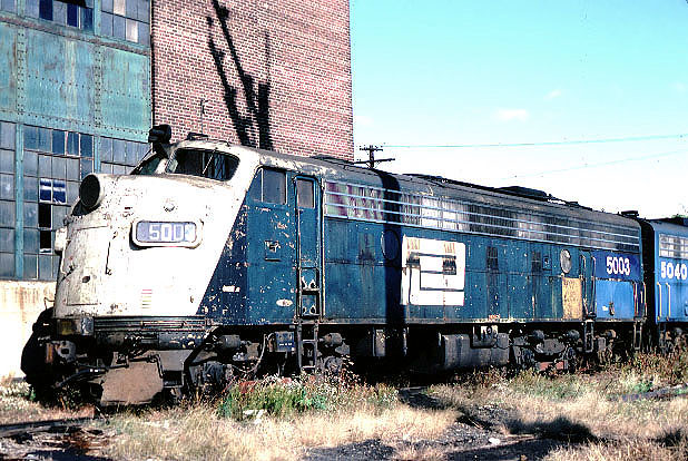 Penn Central EMD FL-9 # 5003 circa mid 1970's.