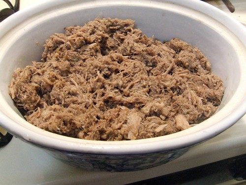 Pork Rillettes - first processing