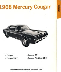 1968 Mercury Cougar Data Book (coconv) Tags: pictures auto old art classic cars car illustration truck vintage magazine advertising cards book photo flyer automobile post image mercury photos antique album postcard ad picture images advertisement vehicles photographs card photograph postcards data vehicle trucks 1968 autos collectible gt collectors brochure cougar v8 automobiles dealer 68 prestige gte