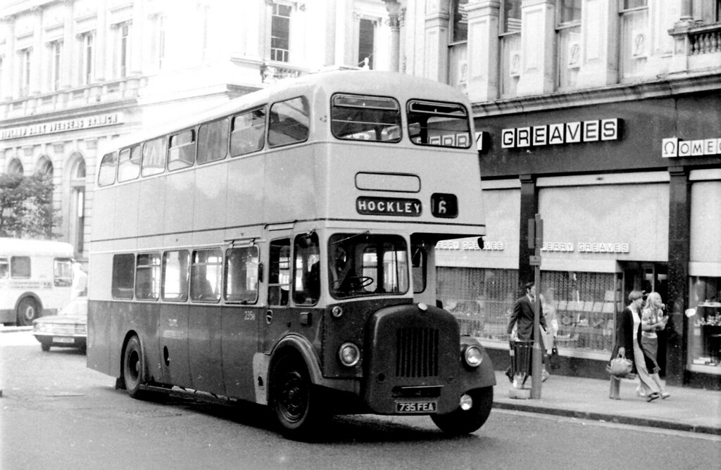 Ex West Bromwich bus on Birmingham service 16, 1976