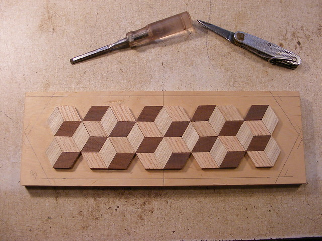 Making a Tumbling Block Cribbage Board #12