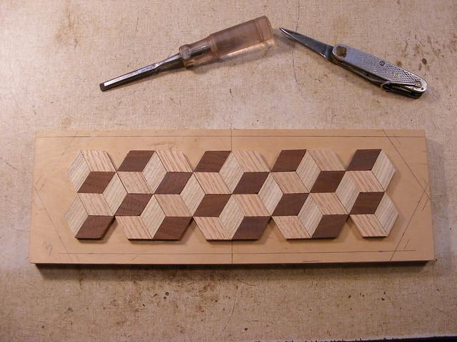 Making a Tumbling Block Cribbage Board #12