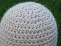 November Special Guest - NickNaks<br>Natural Alpaca Beanie<br> Approximate size 3-6 months<br>