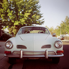 (laurenlemon) Tags: 6x6 film car rolleiflex mediumformat 120film reno expired volkswagon 2010 kodakportra160nc carmengia laurenrandolph laurenlemon wwwphotolaurencom