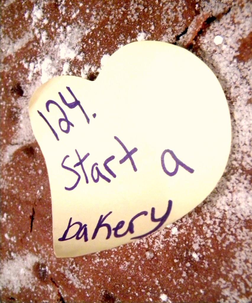 124. Start a bakery