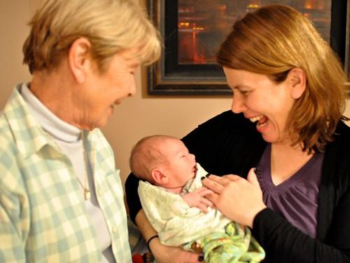 Grandma Auld, Soleil and Caitlin