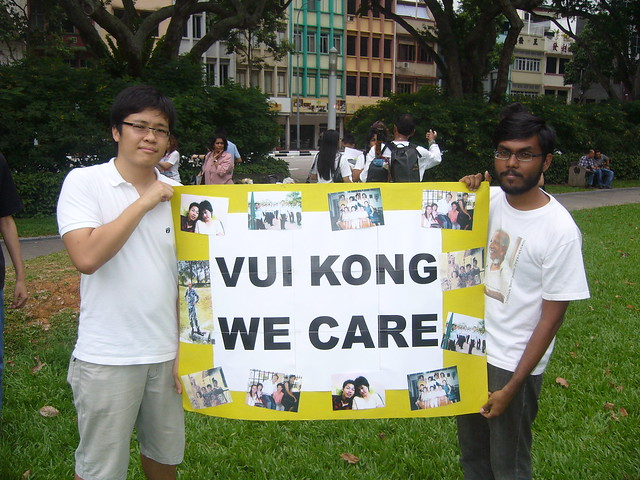 Activistas de derechos humanos expresan su apoyo al joven condenado a muerte, YONG VUI KONG. Crédito: Ravi Madasamy/IPS.