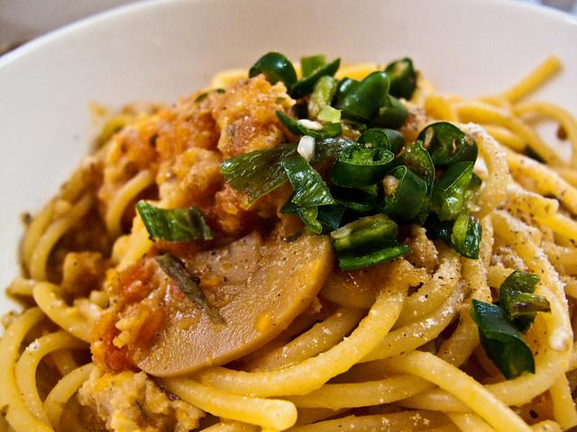 IMG_1159 Spaghetti and Green Chilli Padi