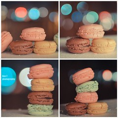 Macaroons (Nas t) Tags: pink paris green yellow bokeh chocolate macaroons macrons