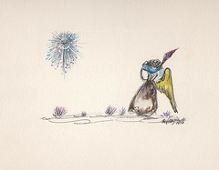 Have a happy and safe 4th of July! (DeGrazia Gallery in the Sun) Tags: painting watercolor architecture adobe fireworks fourthofjuly july4th desert santacatalinas az arizona tucson foundation nonprofit art gallery artgallery galleryinthesun nationalhistoricdistrict artist ted ettore degrazia teddegrazia