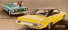 1971 Plymouth Valiant Scamp & 4-Door Sedan (aldenjewell) Tags: 1971 plymouth valiant scamp 2door hardtop 4door sedan postcard