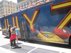Spider-Man Homecoming Bus Ad 2017 NYC 8296 (Brechtbug) Tags: spiderman homecoming bus ad movie poster billboard 49th street 7th avenue 2017 nyc super hero marvel comic comics character spider man new york city film billboards standee theater theatre district midtown manhattan amazing home coming ads advertising yellow jacket cel phone cell mobile cellphone