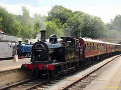 BR LMS Class 3F (Jinty) 47406 Wirksworth Station (Copy) (focus- transport) Tags: ecclesbourne valley railway wirksworth station br lms class 3f jinty 47406 derby lightweight diesel railcar dmbs m 79900