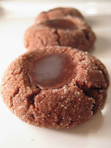 Salty and Sweet Chocolate Thumbprints