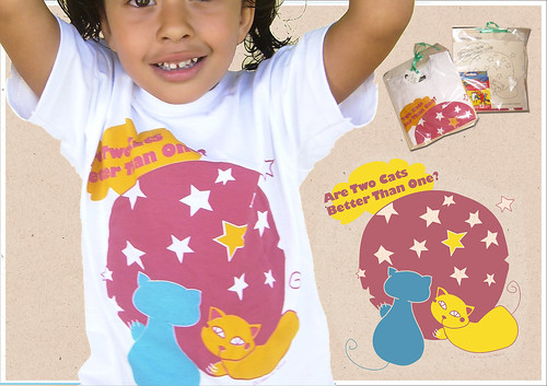 Camiseta Infantil Two Cats
