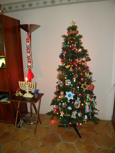 Menorah and Christmas Tree
