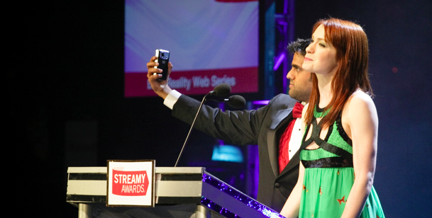 Sandeep Parikh and Felicia Day introduce the 1st Annual Streamy Awards