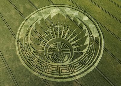 Quetzalcoatl Native Headdress Mayan 2012 Crop Circle Silbury Hill 5th July 2009