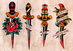 SJdaggers (frankie deny) Tags: tattoo flash paintings frankie deny