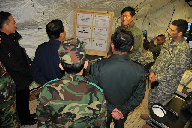 Red Dragons host ROK intelligence professionals during capability exercise by USAG-Humphreys