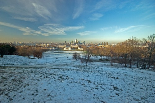 Greenwich Park in the Snow