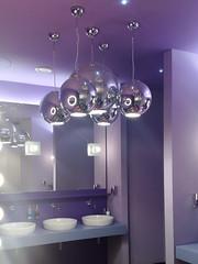 Lights in bathroom of Hotel Missoni, Edinburgh