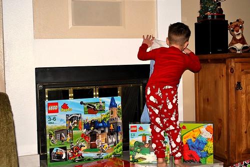 Peeking in the stocking