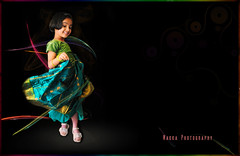 Twirl till Tizzy (bhagath makka) Tags: seattle light people cute green girl painting happy design kid mood colours silk advertisement twirl swirls tamil tizzy samara freelance makka d300 kikon bhagath sb400 bhagathkumar makkaphotography snighta