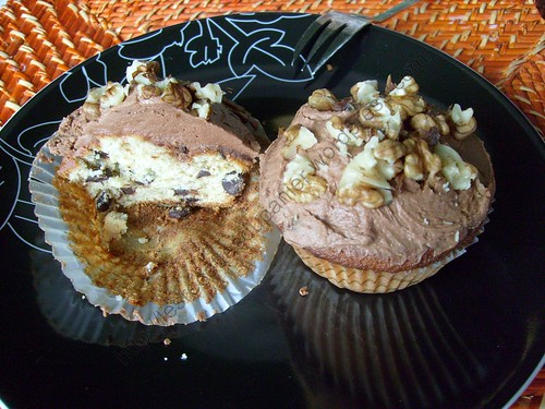 Cupcakes au chocolat et à la banane / Chocolate and banana cupcakes