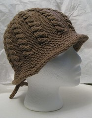 Brimmed Cable Hat