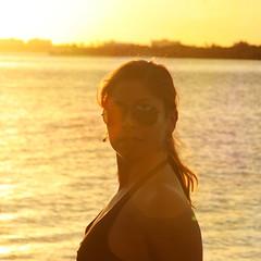 a simple end (girltravel) Tags: sunset sea vacation portrait water self warm sundown florida 365 lastoneofthe365