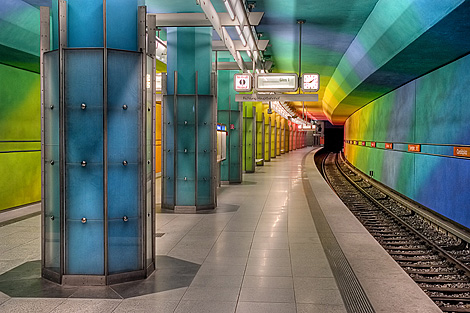 Munich subway art