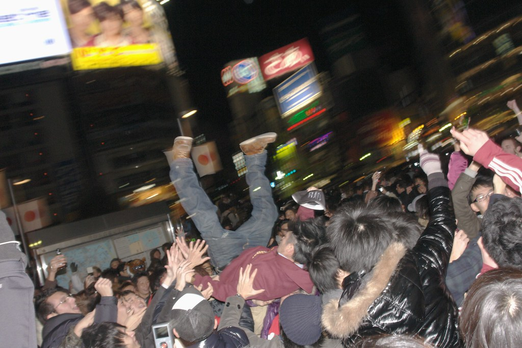 NEWYEAR Hamestu meeting at shibuya station