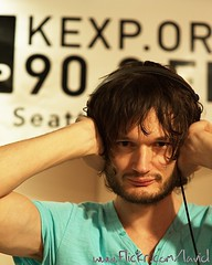 Apparat at KEXP - Seattle on 2009-12-30 - DSC_6070 (laviddichterman) Tags: seattle music berlin germany afternoon live wa electronic decibel apparat glitch kexp instudio idm sascharing