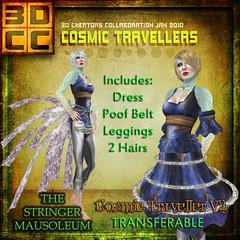 3DCC-The Stringer Mausoleum-Dress in Blue