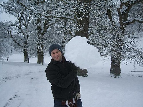 Richard with snowball