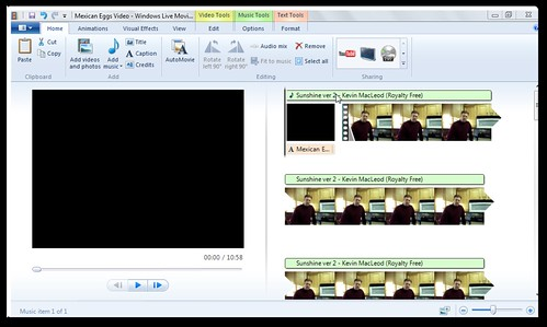 Music has been added in Windows Live Moviemaker