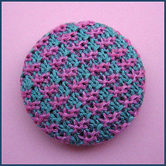 Knitted button (Birthine) Tags: wool knitting buttons silk knit button silke knap strik knapper ylle uld birthine