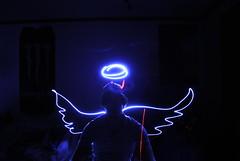 LP #13 (taylormackenzie) Tags: winter light cold boyfriend wall angel dark painting fun wings bedroom nikon girlfriend ipod pointer january horns halo dixon taylor laser devil flashlight d3000 taylormackenzie