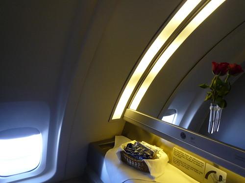 Lufthansa Boeing B747-400 (D-ABVC) NRT-FRA First Class toilet