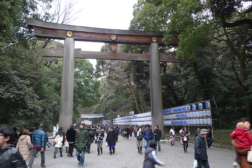 A gate at Meiji Shrine