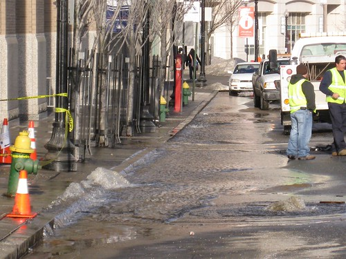 Water main break
