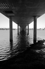 The Entrance.. (Sylver...) Tags: bridge sea bw beach water sand sydney australia newsouthwales theentrance canon40d
