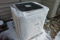 Frozen HVAC unit