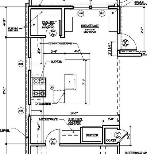 kitchen floor plan