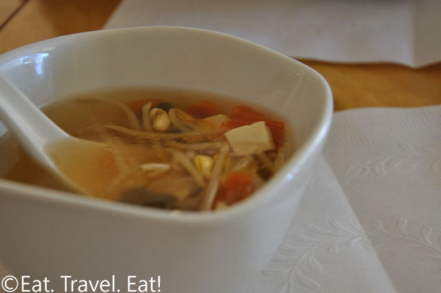 Complimentary Veggie Soup