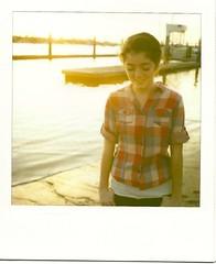 (fivefortyfive) Tags: sunset film girl smile polaroid sx70 happy yay woo annie sonar yee fivefortyfive forgiveme itswindytoo itsrainingherenowandiloveit thisislikeabigdealaroundherehaha iknowthescanningisntthebestijustgotanewscanner maggieannre