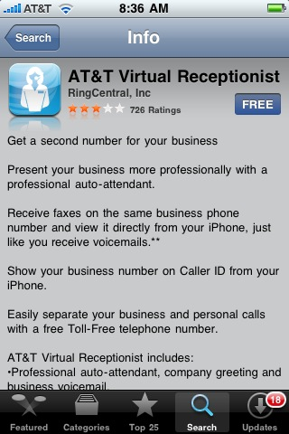 AT&T Virtual Receptionist